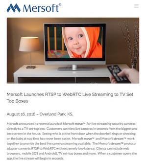 RTSP to WebRTC Live Video - Mersoft